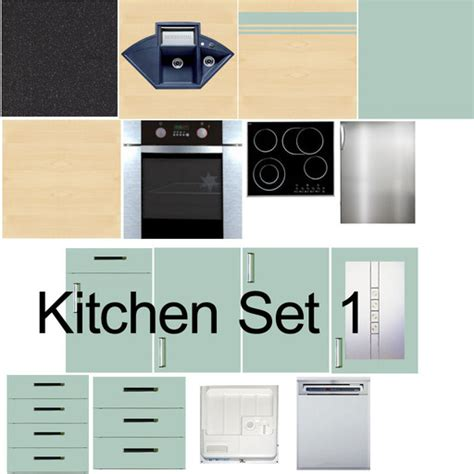 Kitchen Cabinet Textures by Second Marketplace Kitchen Cabinet Texture Set