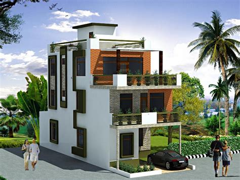 storey contemporary house plan  small plots indianhomemakeovercom