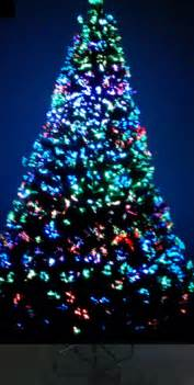 Fiber Optic Christmas Trees 7ft by Daytime Photo White Lights Color Lights