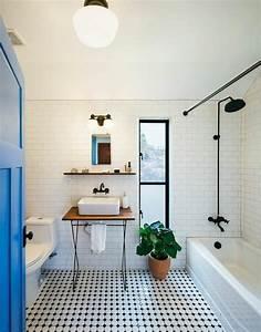 vous cherchez des idees pour un carrelage noir et blanc With salle de bain avec sol noir
