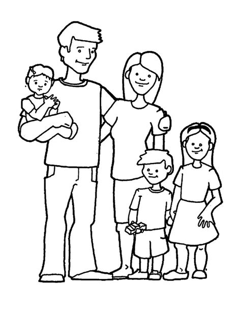 happy family  images family coloring page family