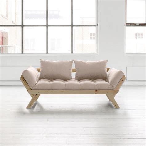 canapé delamaison canapé convertible en bois bebop karup avec matelas futon