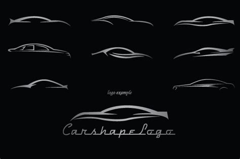car shapes  logos shapes  creative market