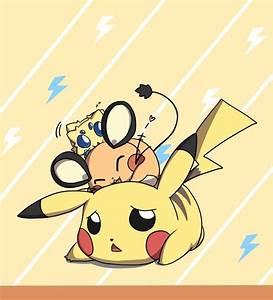 Dedenne, Joltik and Pikachu- Pokémon   kawaii