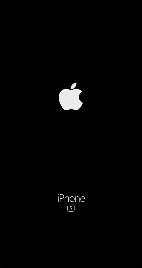 Apple Logo Iphone Black Wallpaper Hd by Iphone 6s Wallpaper Black Logo Apple Fond D 233 Cran Noir