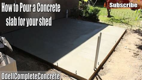 shed concrete slab thickness diy how to pour a concrete shed slab