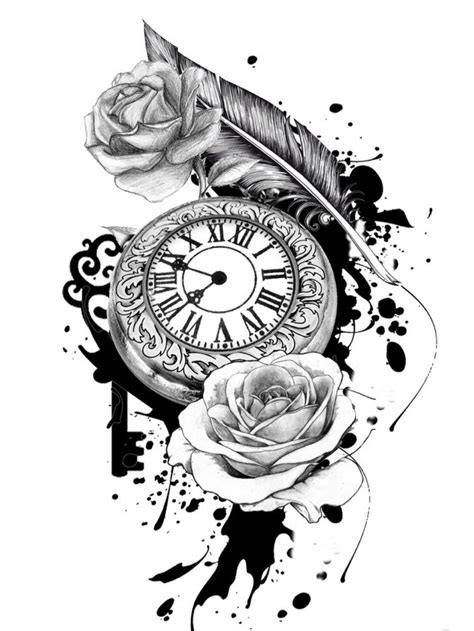 Tattoo uploaded by emma b | Pocket watch floral sketch