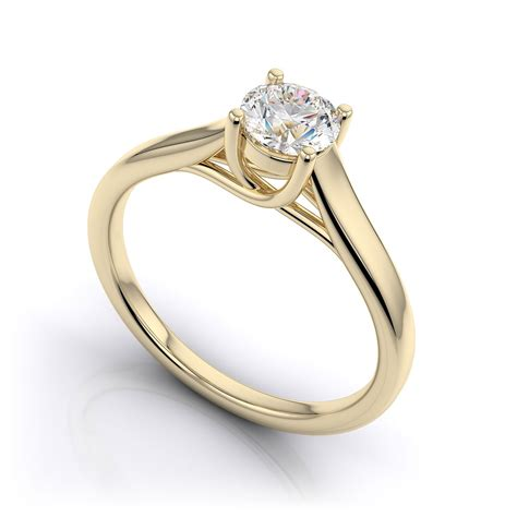 9ct yellow gold 0 32ct diamond solitaire ring j collection