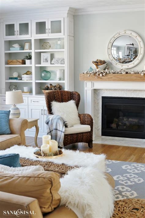 Decorating Ideas by Cozy Winter Mantel Easy Winter Decorating Ideas Sand