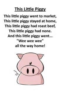 Little Piggy Nursery Rhyme itty bitty rhyme this little piggy nursery rhymes