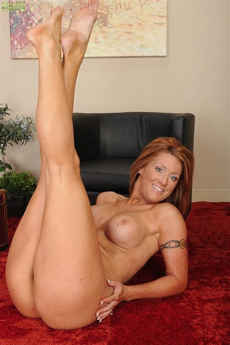 Redhead Milf Devon Sinner Tease And Strip Naked Milf Fox
