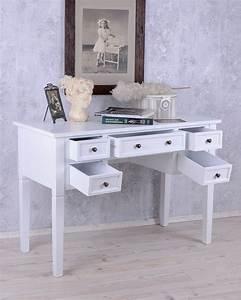 Landhaus Schreibtisch Weiß : romantischer schreibtisch im cottage landhaus stil weiss shabby chic ebay ~ Markanthonyermac.com Haus und Dekorationen