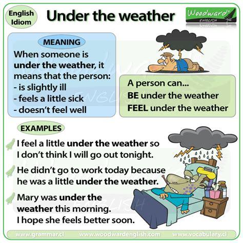 weather idiom woodward english