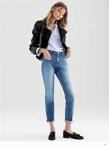 Magdalena Frackowiak Models Hu0026M Fall Denim Looks