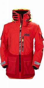 2018 Helly Hansen Aegir Ocean Jacket Alert Red 30335