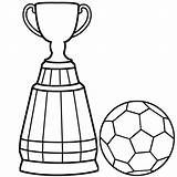 Soccer Coloring Ball Pages Trophy Cup Colouring Drawing Easy Player Trophies Clipart Steps Getdrawings Clip Boys Clipartmag sketch template