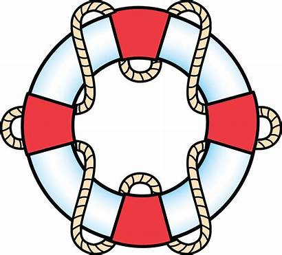 Preserver Ring Rope Vector Clipart Buoy Nautical