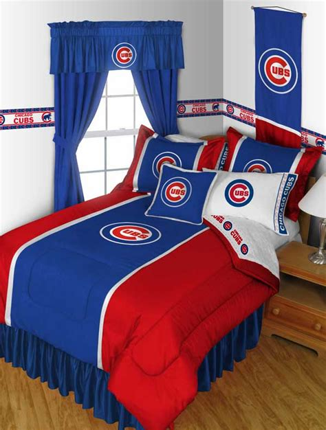 mlb chicago cubs sports bedding set boys twin single size