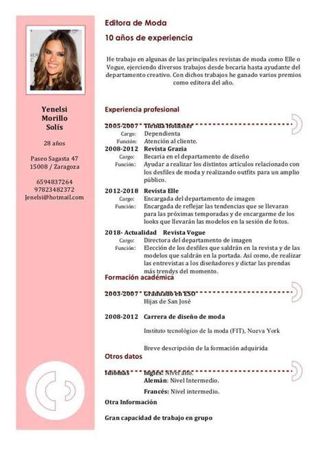 Free Sle Resume Curriculum Vitae by Las 25 Mejores Ideas Sobre Modelos De Curriculum Vitae En