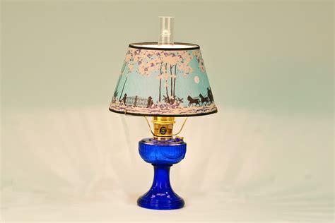 C6177b-14402 Aladdin Blue Sld Brass Hdwr Lamp /144-02