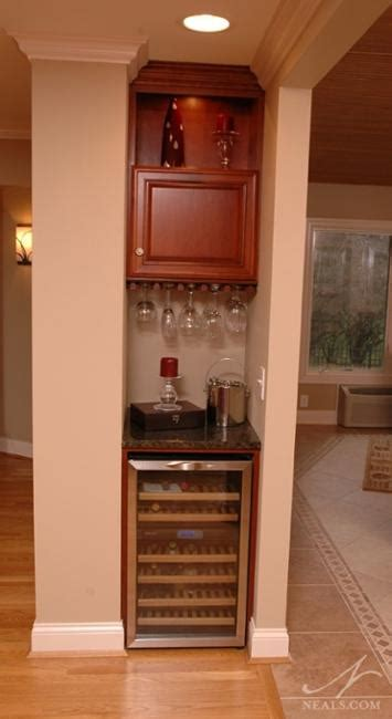 small home bar ideas maximizing wall niche space