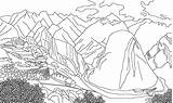 Coloring Mountains Andes Drawings 78kb 2506 sketch template