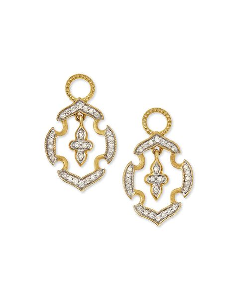 Lyst - Jude Frances 18k Gold Malta Diamond Earring Charms