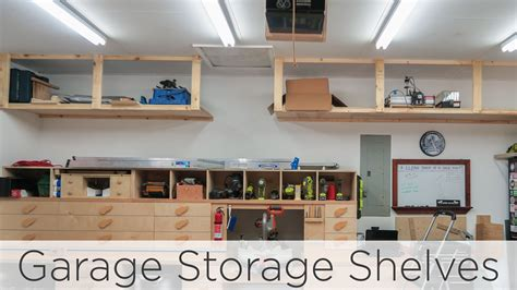 Shop Storage Shelves by Wasted Space Garage Storage Shelves 202 Diy Fyi