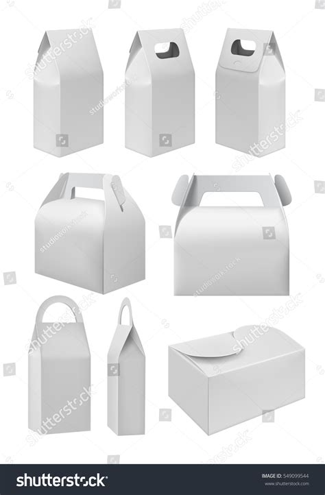 box cuisine take away food box mock stock vector 549099544