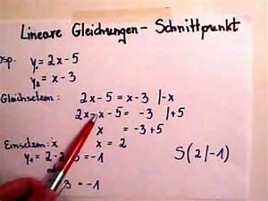 Schnittpunkt Berechnen Quadratische Funktion : lineare funktionen schnittpunkt berechnen youtube ~ Themetempest.com Abrechnung