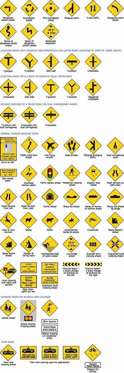 Signs Road Ireland Test Driver Warning Traffic