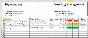items issue log template with sample data excel templates With project management issues log template