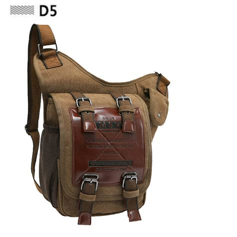 Synthetic Leather Men Canvas Bag Outdoor Travel Tactical Leg Bag Pack Coffee Black Army Green
