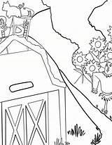 Coloring Pages Waffle Barn Smash Waffles Activity Yard sketch template