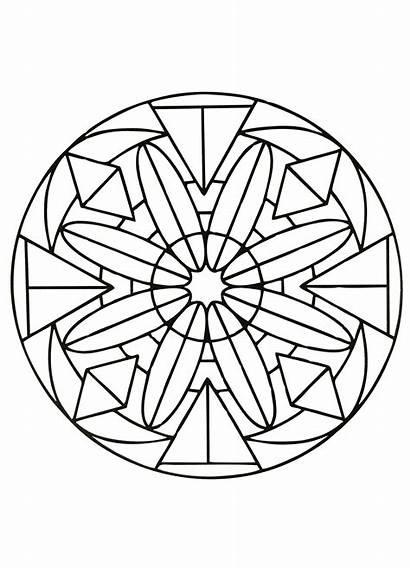 Mandala Coloring Mandalas Simple Easy Pages Geometric