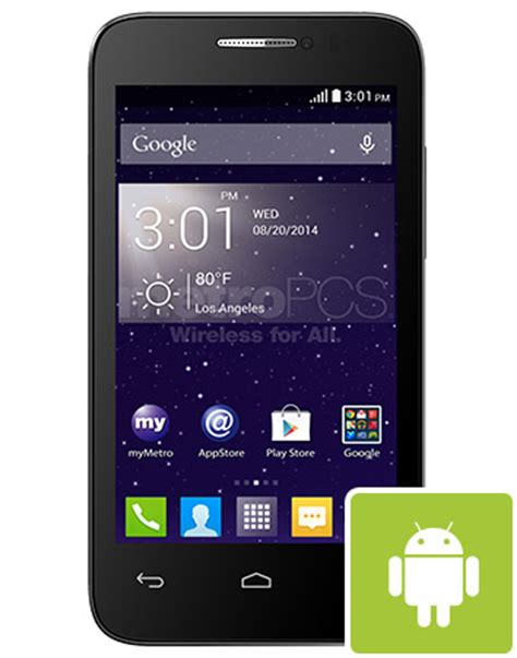 metro pcs cell phone alcatel onetouch 4037n evolve 2 3g android smart phone
