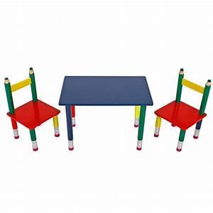 Kindertisch Mit Stühlen : bunte kindertischgruppe aus massivholz im bleistift real ~ Michelbontemps.com Haus und Dekorationen