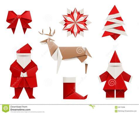 origami r 233 aliste no 235 l r 233 gl 233 santa cerf commun arbre de no 235 l flocon de neige et ainsi