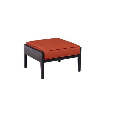 patio chairs with ottoman outdoor ottomans outdoor lounge furniture the home depot