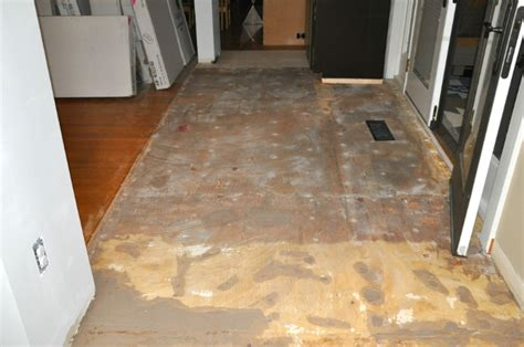 floor patching compound plywood finishing up floor removal particle board tile and