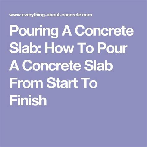 1000  ideas about Concrete Slab on Pinterest   Slab
