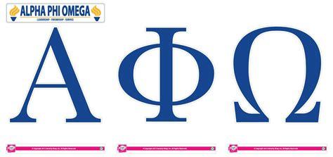alpha phi omega letters alpha phi omega jumbo letter decals sororityshop 9117