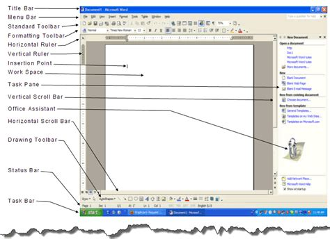 Microsoft 2010 Word Labeled Diagram parts of microsoft word 2003 microsoft office word