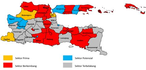 map  construction sector  east java based