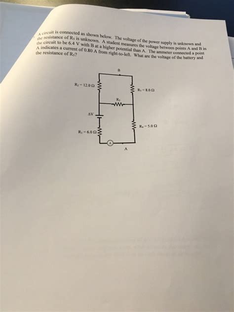 Solved Circuit Connected Shown Below The Voltage
