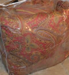 ralph lauren edmonton red gold paisley queen comforter