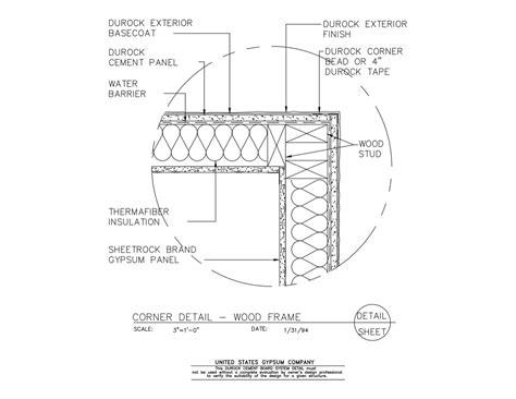 Usg Design Studio  09 21 1603224 Durock Corner Detail