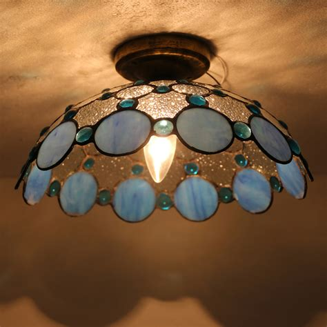 10 inch ceiling light cover tiffany style e27 romantic stained glass 12 inch l