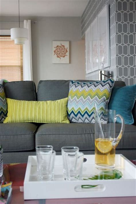 grey yellow yellow and gray sofa on pinterest