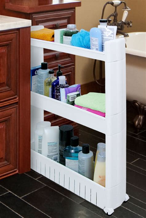 slideout storage tower organizer   slim narrow